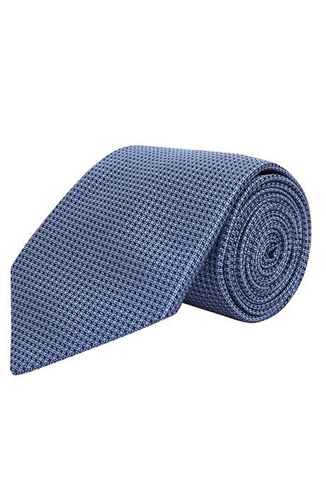 Light Blue Hopsack Silk Tie