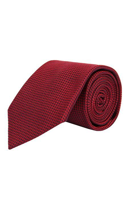 Red Hopsack Silk Tie