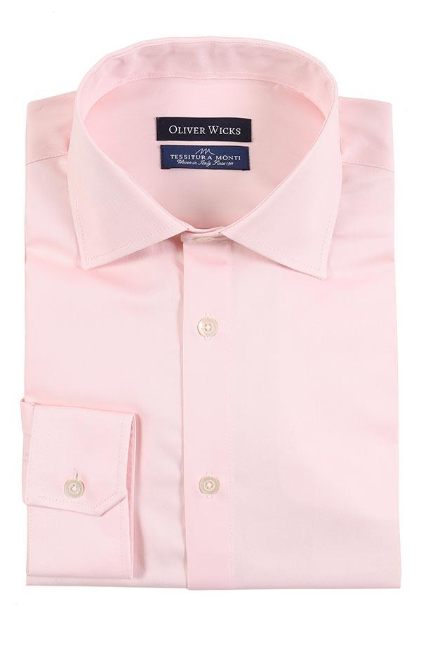 Melon Pink Cotton Twill Shirt