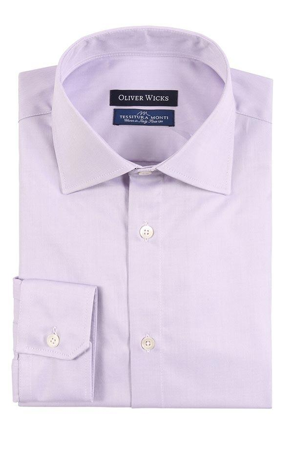 Lavender Cotton Twill Shirt