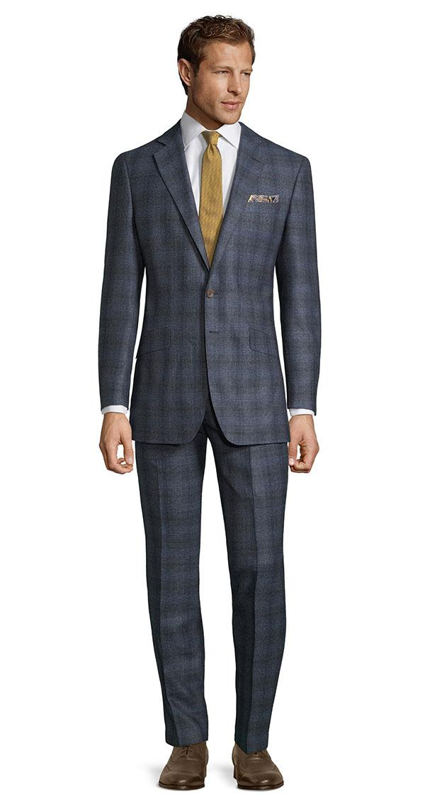 Blue Plaid Natural Stretch Suit
