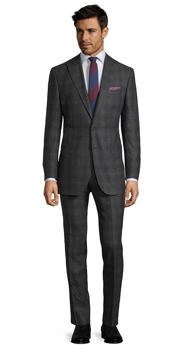Charcoal Plaid Natural Stretch Suit