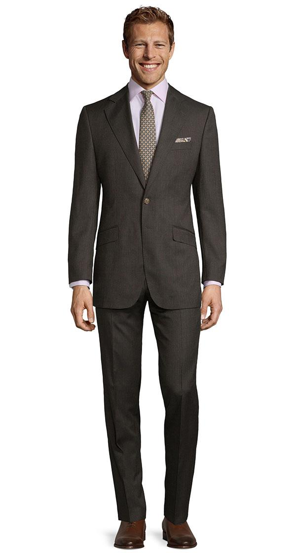 Brown Melange Suit