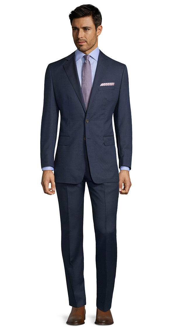 Navy Melange Suit