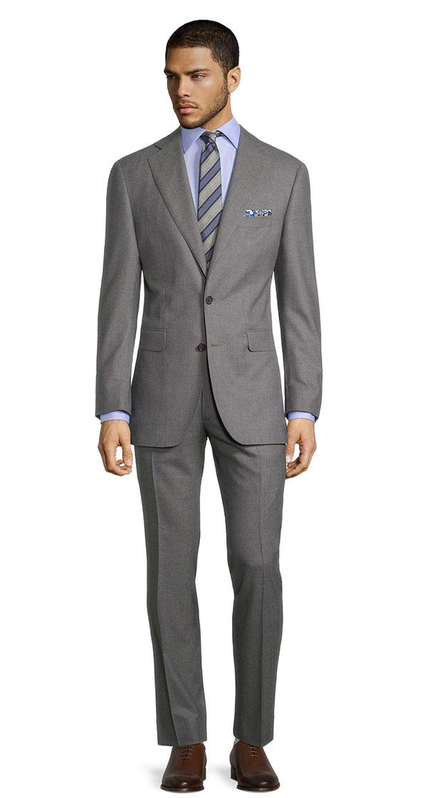 Sartorial Blue Stripe Grey 160s Suit