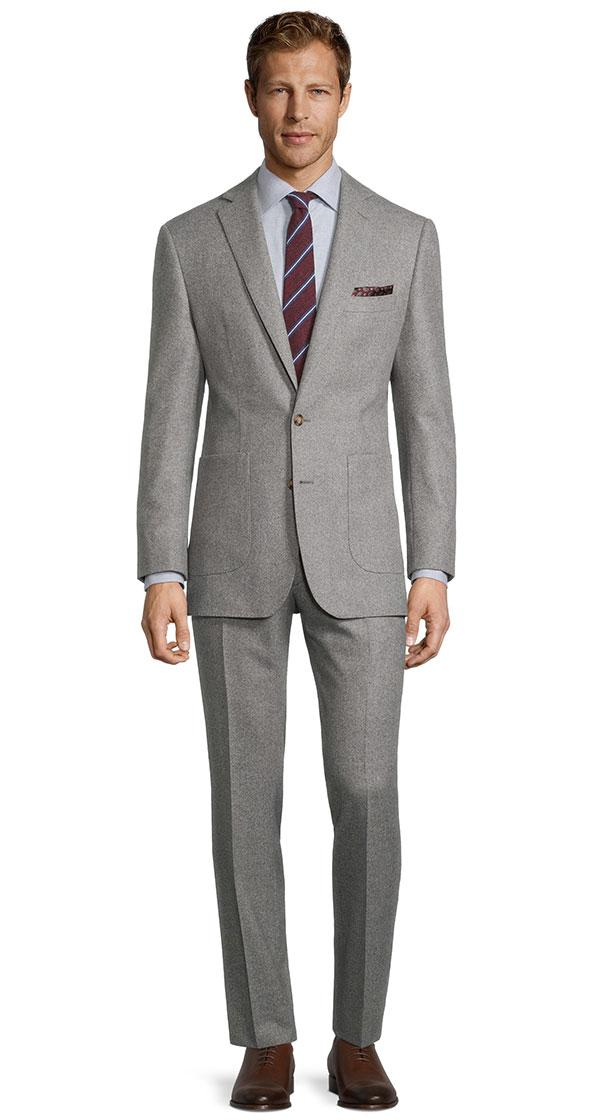 Sartorial Grey Melange Flannel 180s Suit