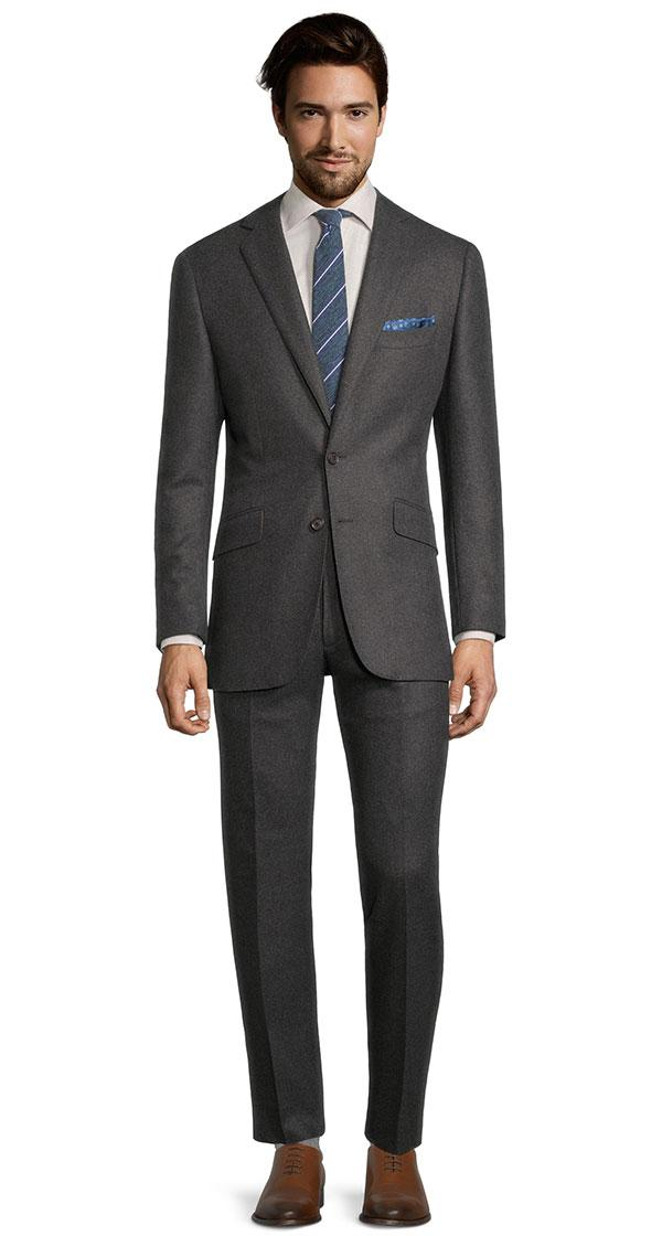 Sartorial Dark Grey Flannel 180s Suit