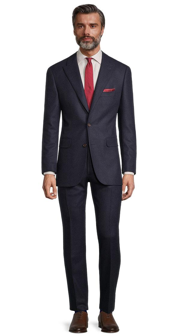 Sartorial Midnight Navy Flannel 180s Suit