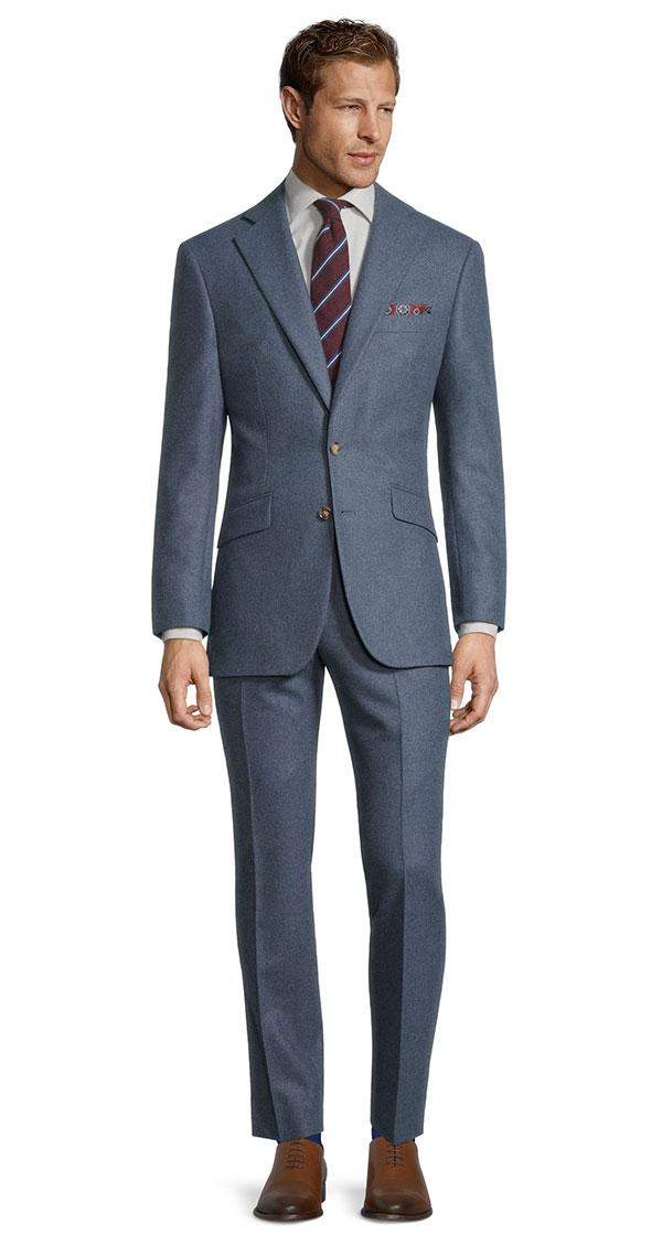 Steel Blue Flannel Suit