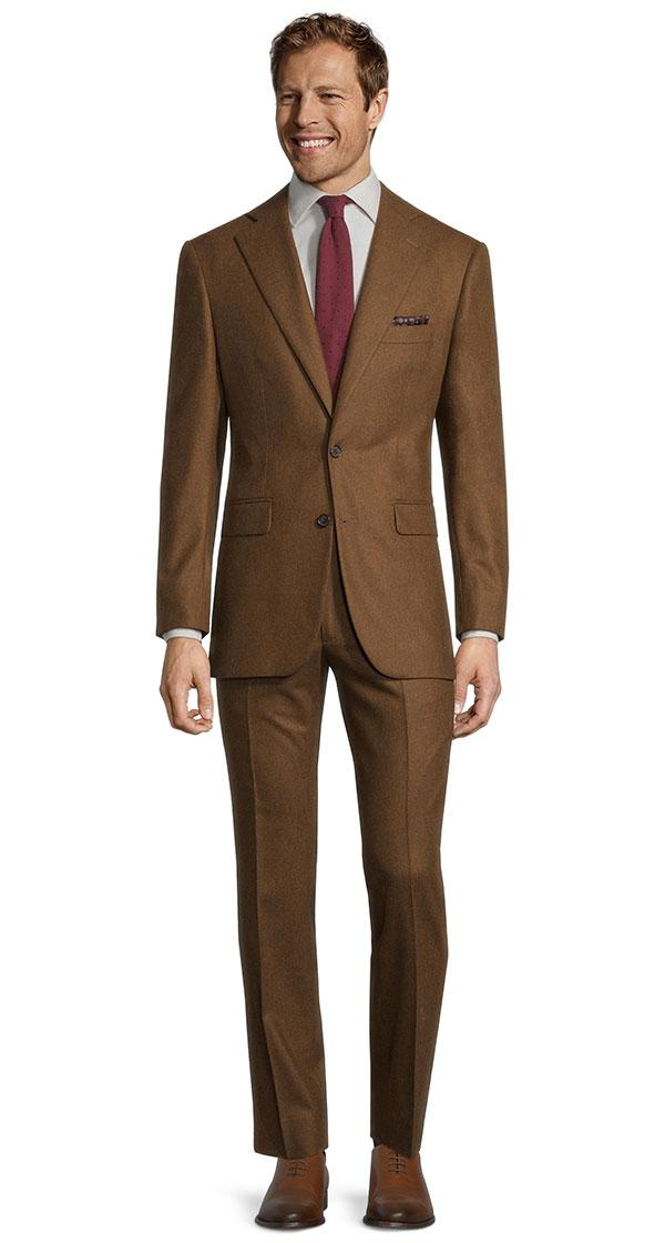 Tobacco Brown Flannel Suit