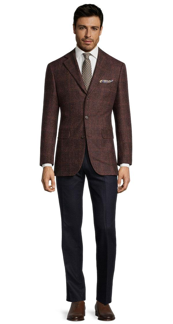 Copper Plaid Baby Alpaca Blend Blazer