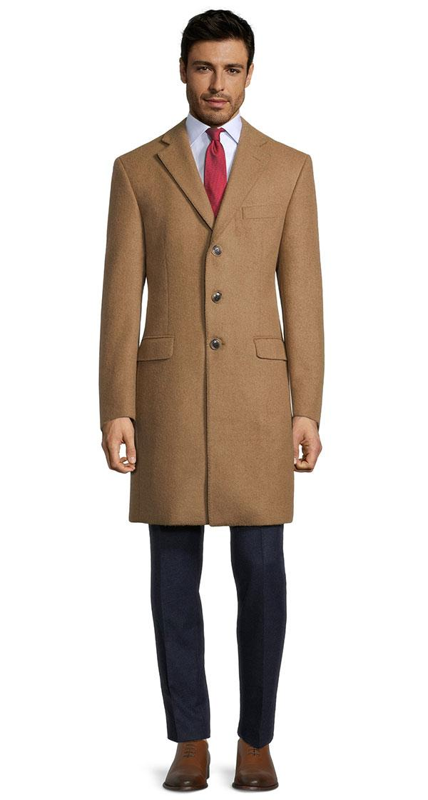 THE W. Coat in Camel Beige Baby Alpaca