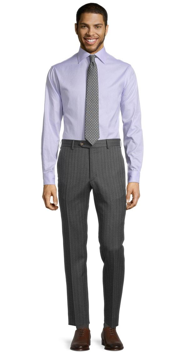 Lavender Stripe Grey Mouline Pants