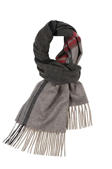 Charcoal & Grey Cashmere Scarf