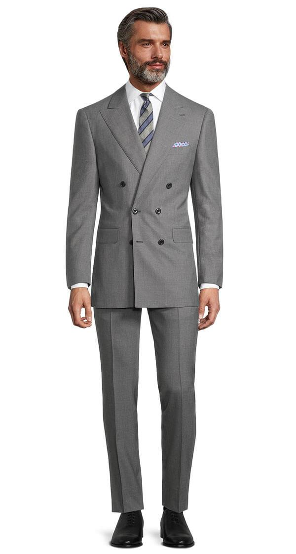 Solid Grey Bi-Stretch Suit