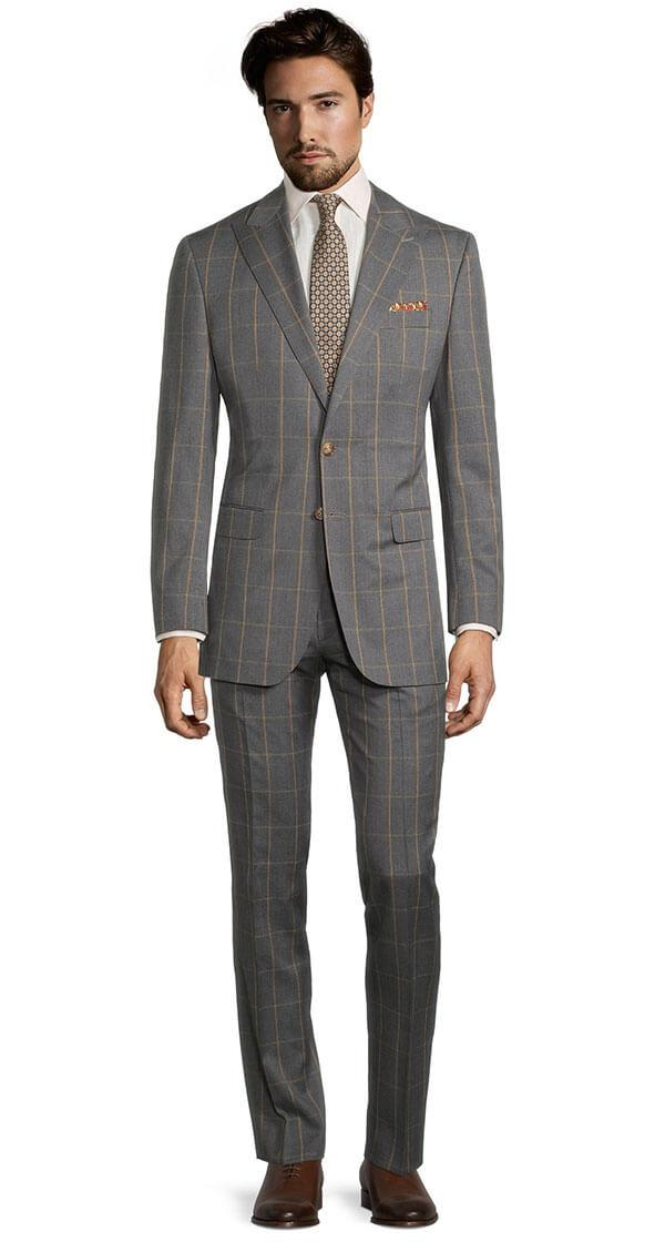 Tangerine Check Dark Grey Suit