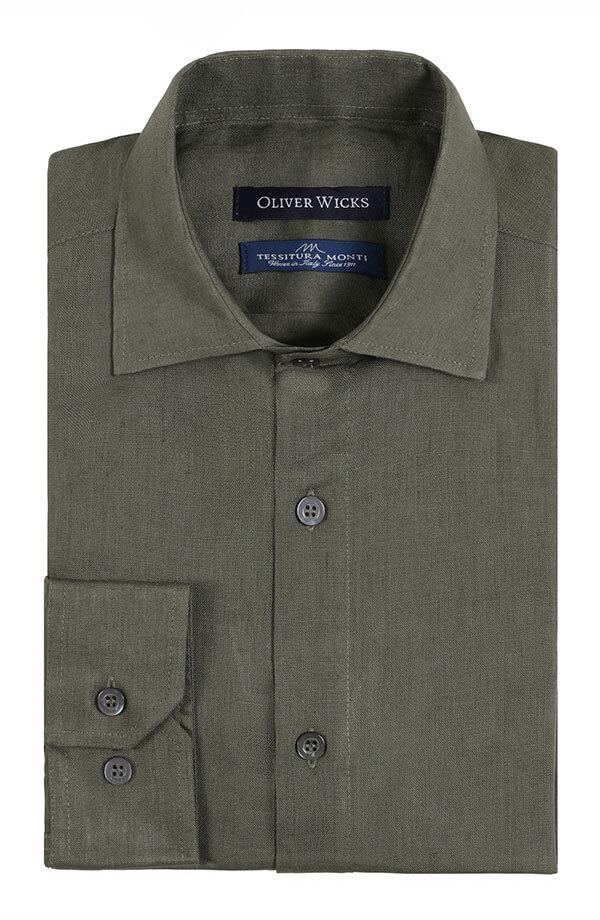 Forest Green Linen Shirt