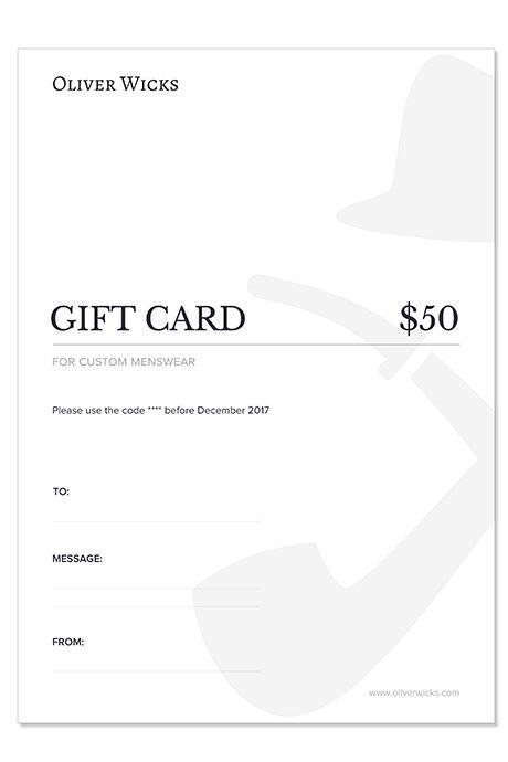 $50 / €47 Gift e-Card