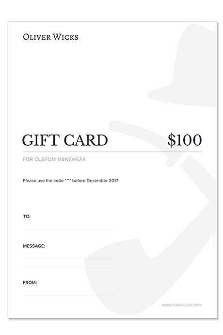 $100 / €90 Gift e-Card
