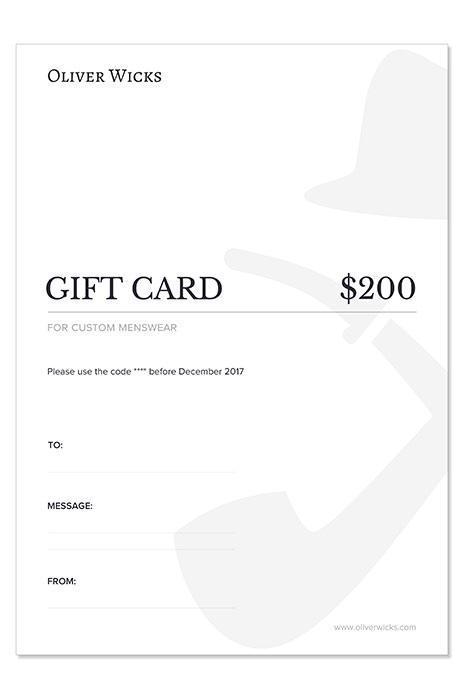$200 / €186 Gift e-Card