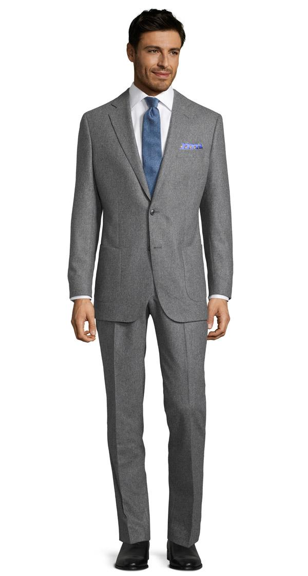 Grey Wool Flannel Suit