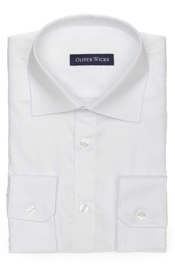 White Two-Ply Cotton Oxford Shirt
