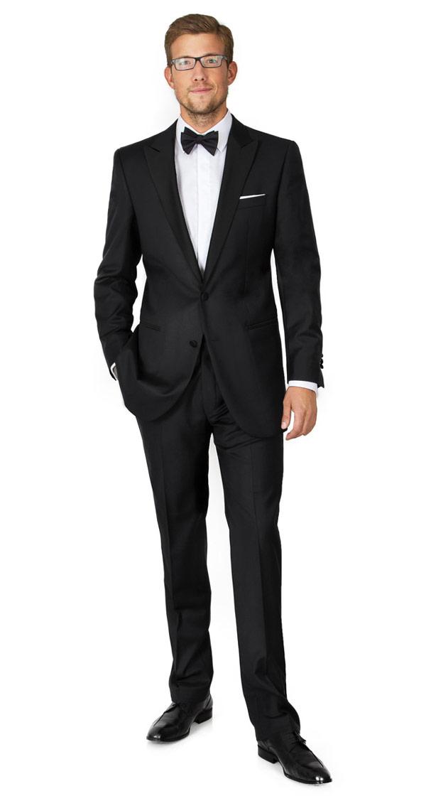 Premium Black 2 Piece Tuxedo