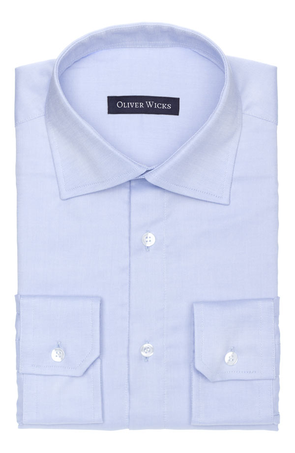 Light Blue Two-Ply Cotton Oxford Shirt