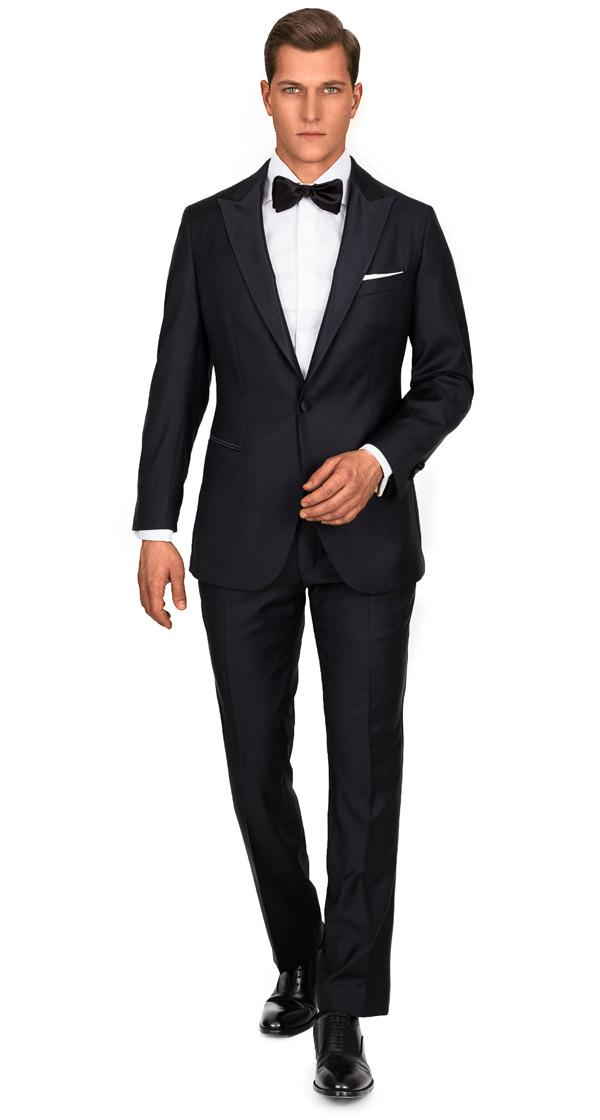 1663 Black Tuxedo with peak lapels
