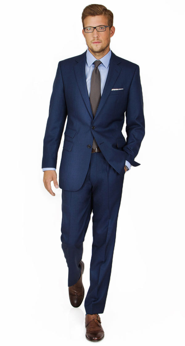 Custom Navy & Blue Suits, Tailored in Europe from Fine Wool ...