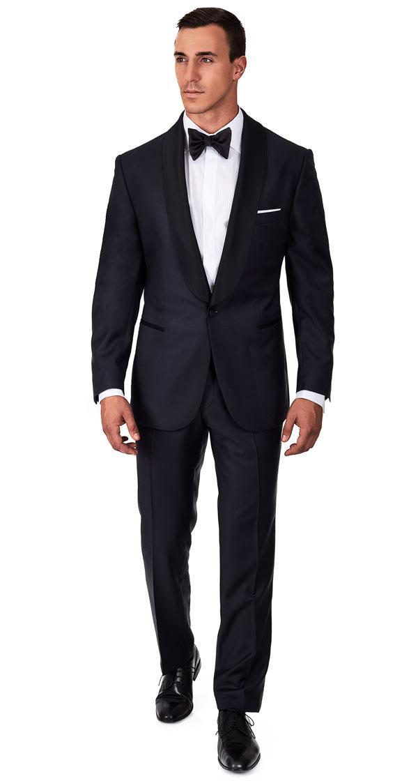 Premium Navy Blue 2 Piece Tuxedo