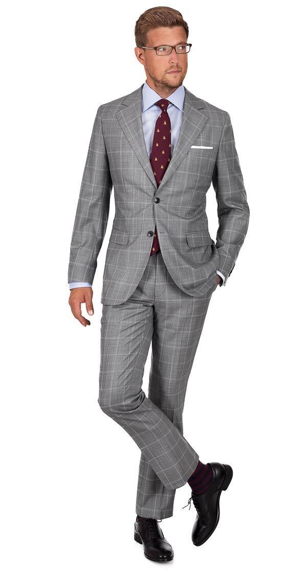 Vendetta Premium Grey Check Suit
