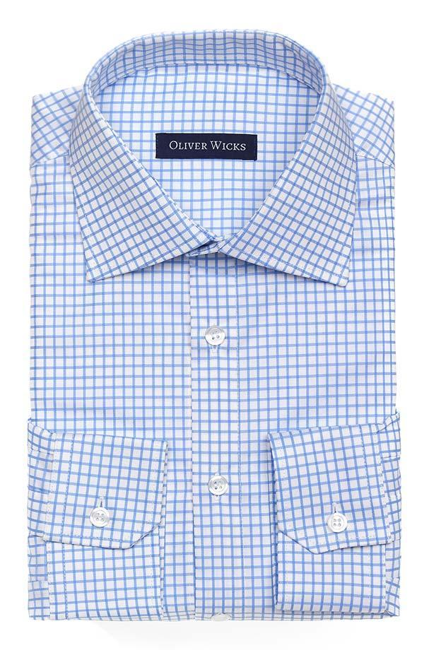 Blue Checks Two-Fold Cotton Shirt
