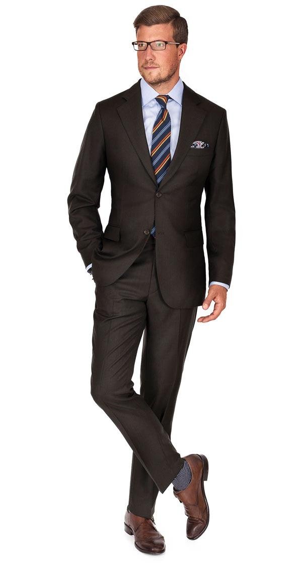 Brown Pick & Pick Suit