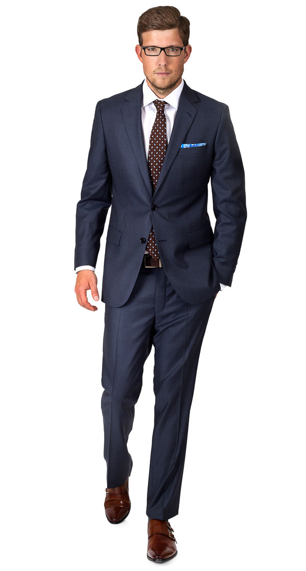 Premium Charcoal Blue Suit