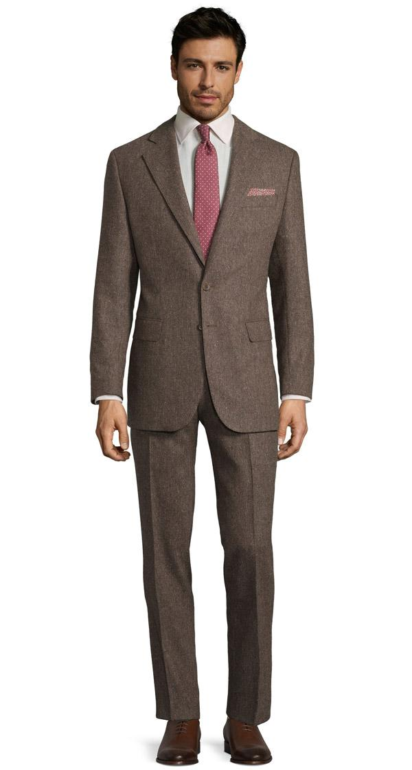 Natural Brown Tweed Suit