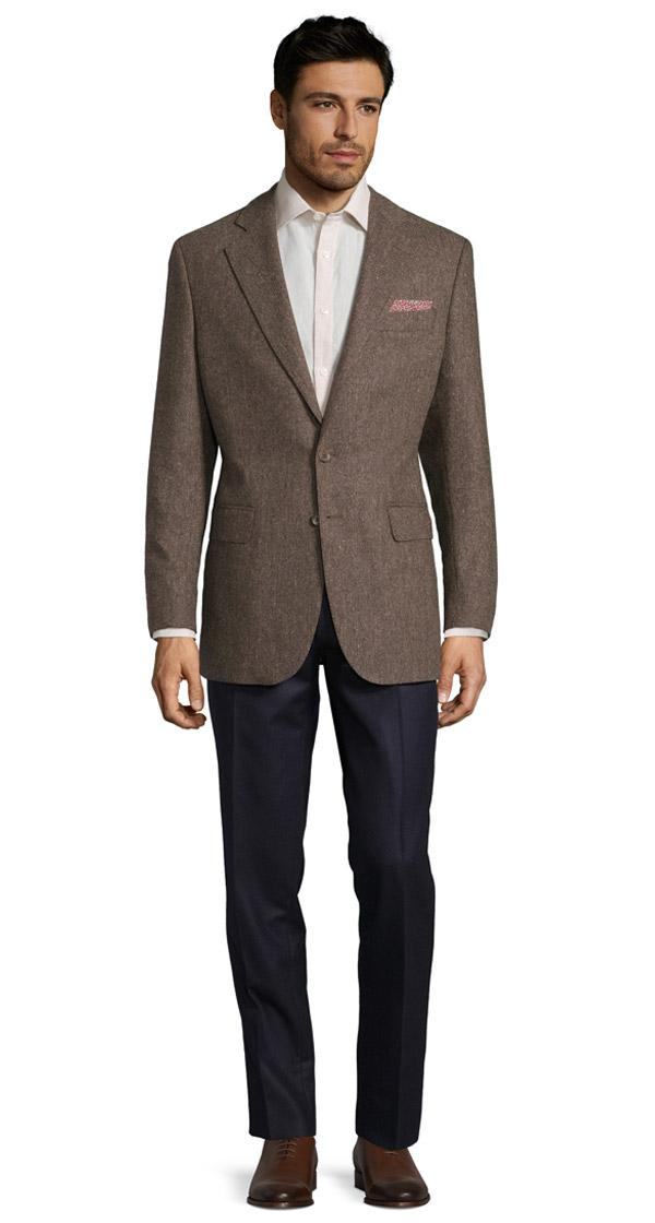 Natural Brown Tweed Blazer