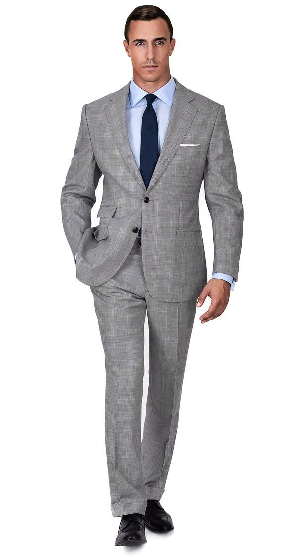 Custom Grey Suits, Tailored in Europe from Fine Italian Wool