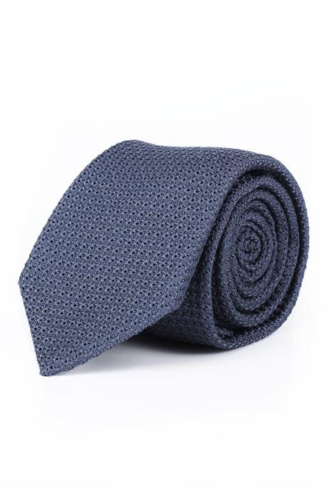 Airforce Blue Italian 100% Grenadine Silk Tie