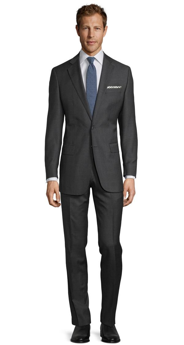 Premium Charcoal Plaid Suit