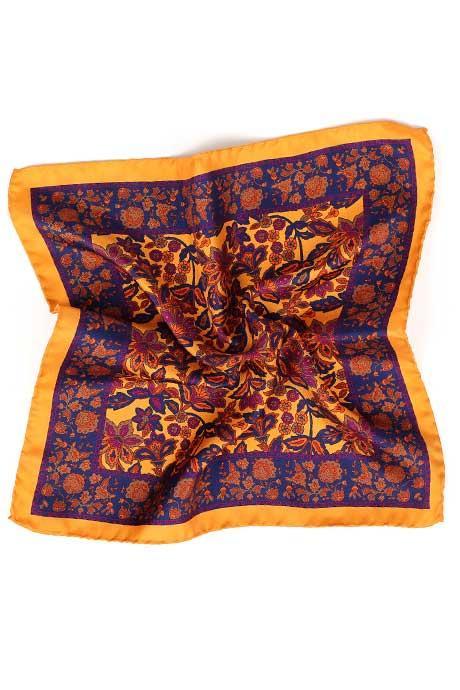 Bronze 100% Silk Pocket Square