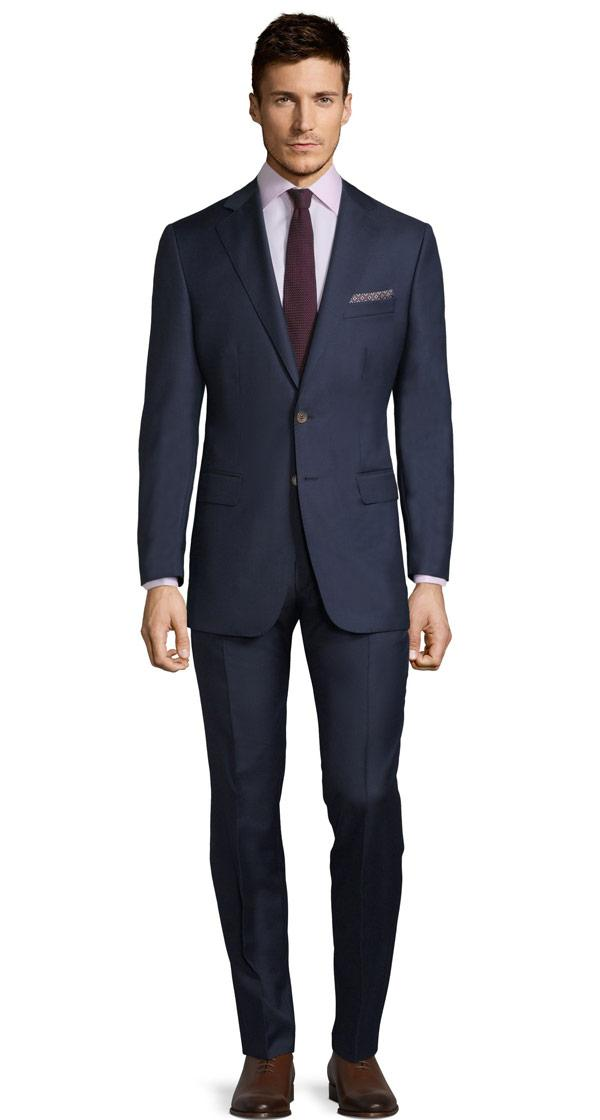 Navy Blue Pick & Pick Suit