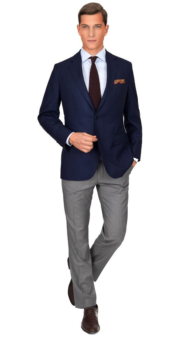 Blue Sharkskin Blazer