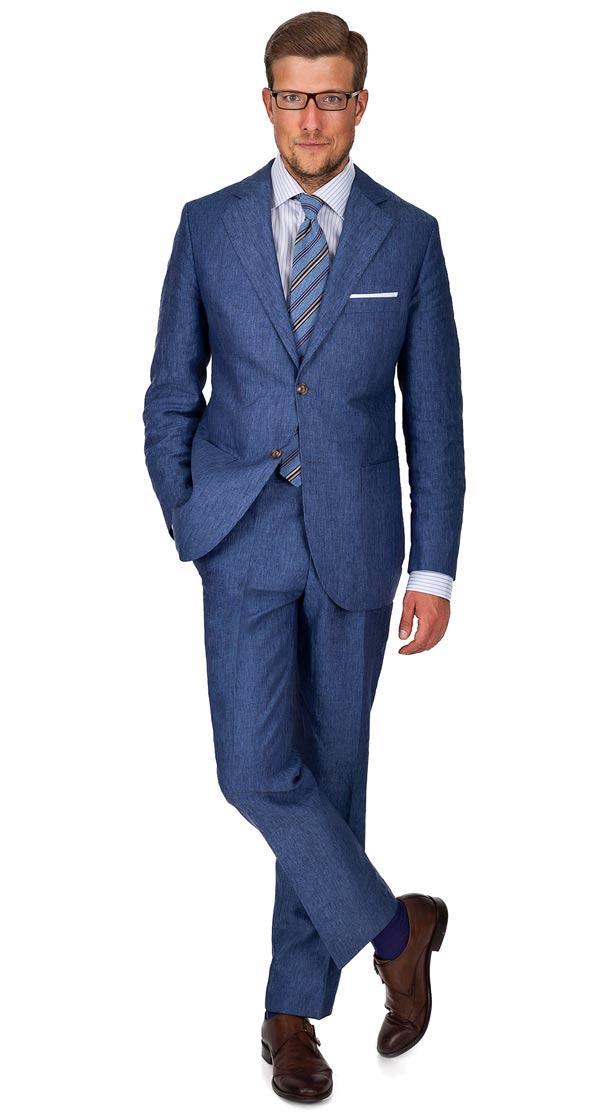 Sky Blue Linen Suit