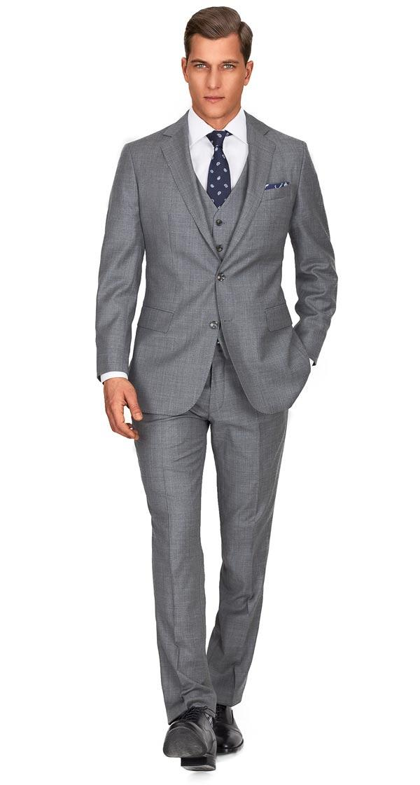 Custom Grey Suits, Tailored in Europe from Fine Italian Wool ...