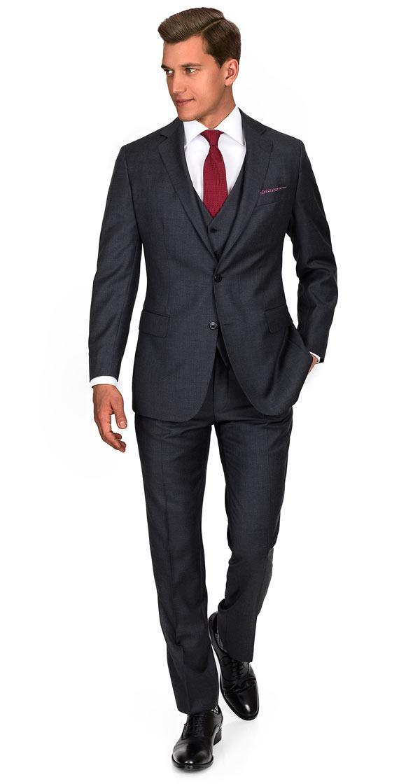 Charcoal Pick & Pick 3 Piece Suit
