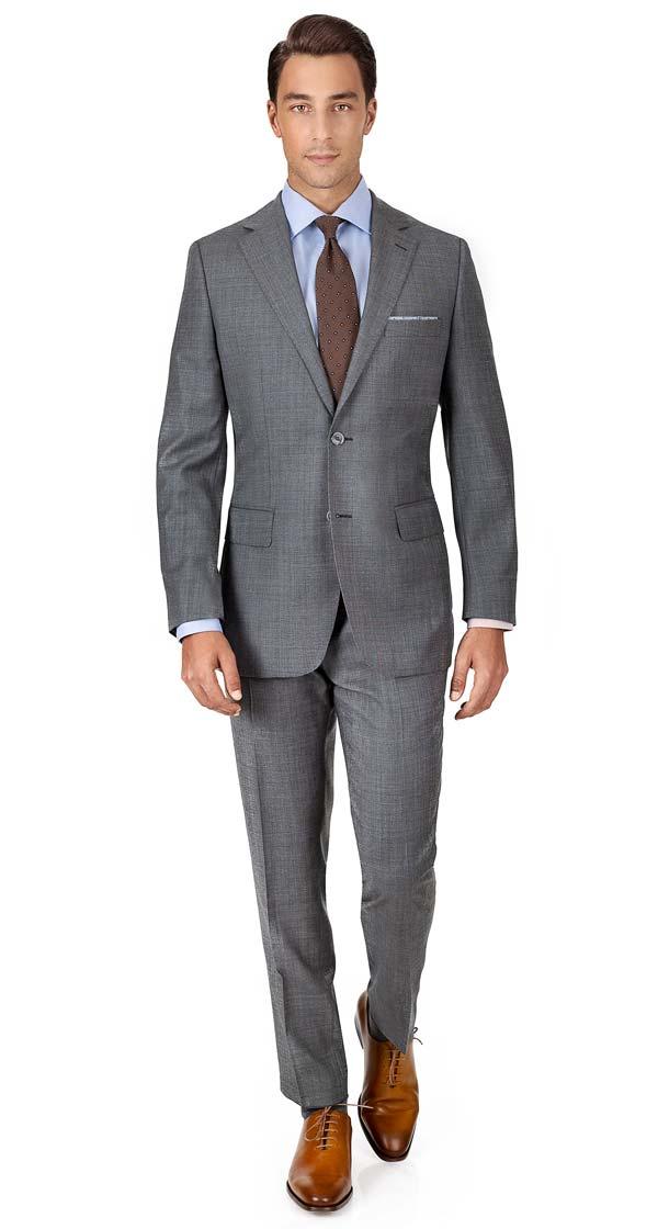 THE W. Suit in Grey Pick & Pick Wool