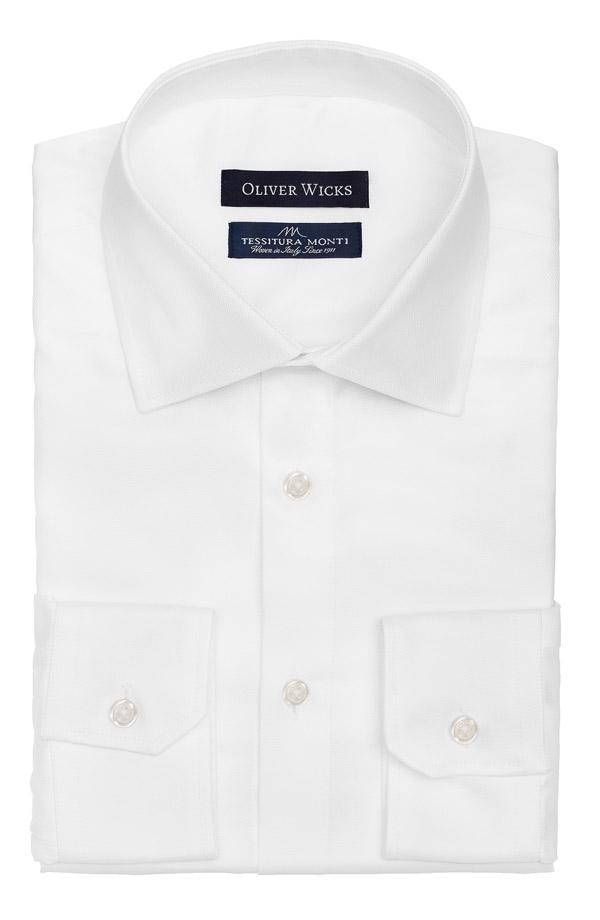 White Two-Ply Cotton Royal Oxford Shirt