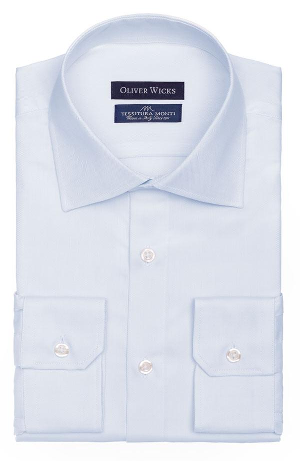 Pastel Blue Cotton Royal Oxford Shirt