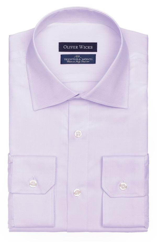 Lavender Two-Ply Cotton Royal Oxford Shirt